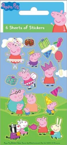 Peppa Pig 6 Sheet Party Stickers
